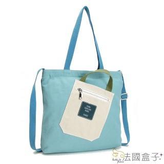 【法國盒子】話題性文藝帆布包(共四色)