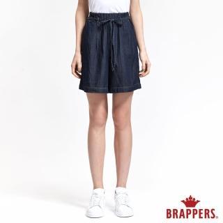 【BRAPPERS】女款 Boy Friend 系列-鴿子裝飾袋天絲棉短褲(藍)