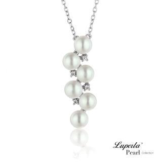 【大東山珠寶】璀璨星辰 純銀天然珍珠項鍊 鎖骨鍊(天然淡水珍珠)