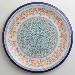 【波蘭陶】紅花綠蔓系列 圓形餐盤 27cm 波蘭手工製
