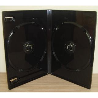 【臺灣 】雙片裝14mm黑色PP鏡面CD盒 DVD盒 光碟盒 CD殼 有膜 25個