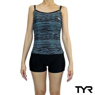 【TYR】Lavinia 系列連身四角泳衣(後背挖空設計小性感 Aeroback肩帶穩定舒適)