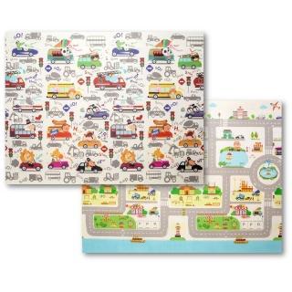 【Mang Mang 小鹿蔓蔓】雙面PE遊戲地墊(汽車)
