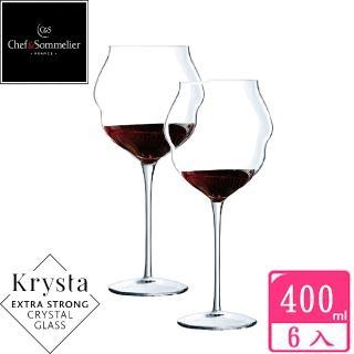 【法國C&S】馬卡龍MACARON玻璃水晶紅酒杯400cc(六入組)