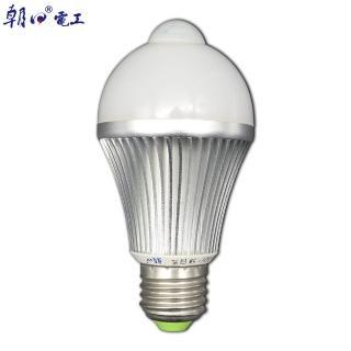 【朝日電工】5W人體感應節能燈泡E27-附配件(人體感應燈泡)