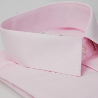 【金安德森】粉色吸排窄版短袖襯衫
