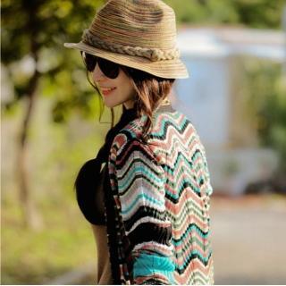 【Verona】波西米亞設計師款彩虹雅緻休閒草帽(限量銷售)