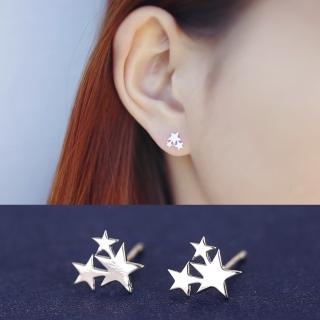 【梨花HaNA】韓國純粹系列星星天空925銀耳環