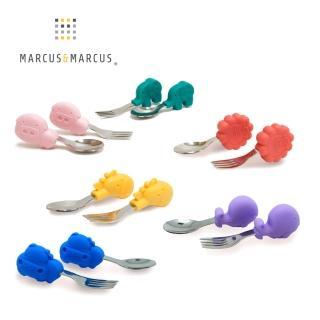 【MARCUS&MARCUS】動物樂園寶寶手握訓練叉匙(多款任選)