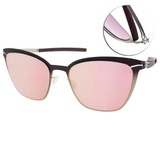【ic!berlin】德國工藝輕盈眉框眼鏡(漸層紫白-淡水銀#BIRGIT D CANDY FADE)
