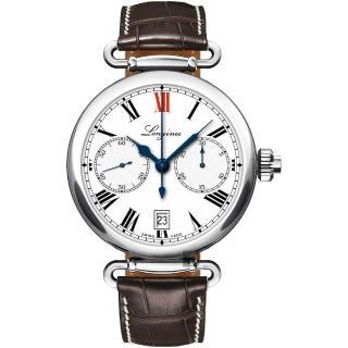 【LONGINES 浪琴】Heritage Collection 180週年復刻版機械錶(L27764213)