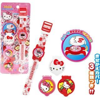 【TDL】HELLO KITTY兒童錶兒童手錶電子錶卡通錶附3款錶蓋 013252