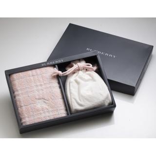 【BURBERRY 巴寶莉】戰馬束口袋毛巾禮盒(粉紅色)