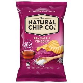【澳洲Natural】海鹽酸醋口味厚片波浪洋芋片(175g)