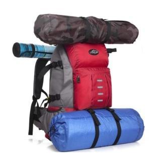 【May shop】大容量戶外背包 多功能登山包雙肩包男女徒步旅遊包(大容量背包)