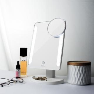 【Ms.elec 米嬉樂】觸控柔光化妝鏡LM-001(黑.白兩色任選/LED化妝鏡/桌上鏡)