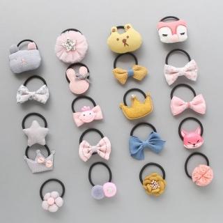 【JoyNa】兒童髮夾 寶寶髮帶可愛造型皮筋兒童髮飾(2組10入)