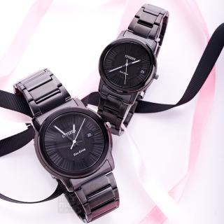 【CITIZEN 星辰】Eco-Drive 極致時尚情人對錶(AW1215-54E_FE6015-56E)