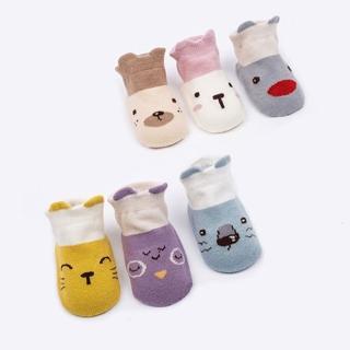 【JoyNa】童襪短襪 卡通防滑地板襪 兒童船襪(六雙入)