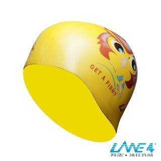 【LANE4羚活】貓頭鷹矽膠泳帽(矽膠材質 視覺感搶眼 減少阻力設計)