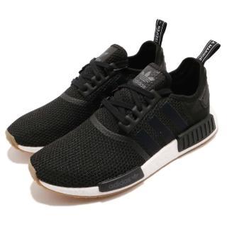 【adidas 愛迪達】慢跑鞋 NMD_R1 運動 男鞋 愛迪達 boost中底 襪套 膠底 百搭 黑 白(B42200)