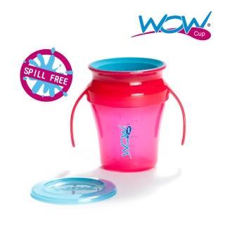 【Wow cup】美國WOW Cup baby 360度握把透明喝水杯(果凍紅)