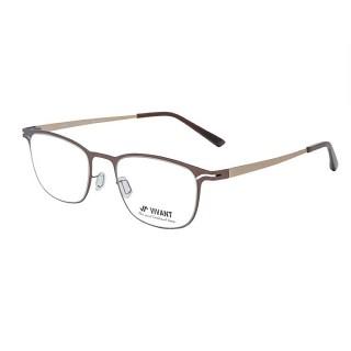 【VIVANT】強勢來襲 江南奢侈品牌金屬矩形光學眼鏡(棕 CARRE Brown)