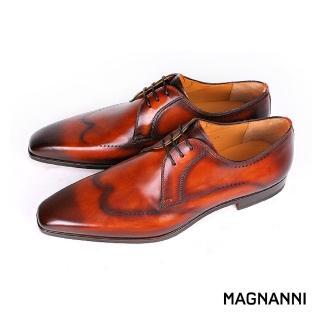 【MAGNANNI】經典復古刷色翼紋德彼紳士鞋(棕色 20523-COG)