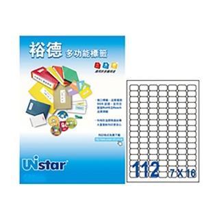 【Unistar 裕德】3合1電腦標籤 US4211(112格 100張/盒)