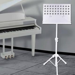【美佳音樂】MS-320W 大面板/加粗支架/台灣製造 高級指揮大譜架-白色(台灣製造)