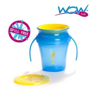 【Wow cup】美國WOW Cup baby 360度握把透明喝水杯(果凍藍)
