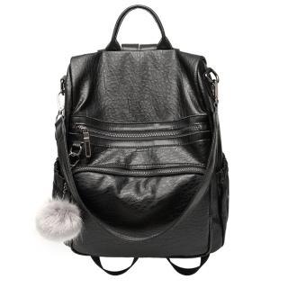 【Ela】新款女包韓版毛球掛件時尚肩背/後背包簡約女包包