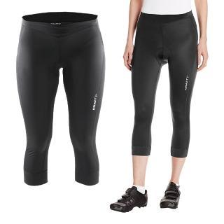 【瑞典 CRAFT】Velo 女用七分短車褲 1903983 (黑色)(瑞典 機能 排汗 七分車褲 女用 抗UV)