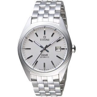 【TITONI 梅花錶】宇宙系列摩登經典機械腕錶(878 S-606)