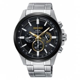 【SEIKO 精工】Criteria 時時刻刻三眼太陽能時尚腕錶(V175-0ER0D/SSC679P1)