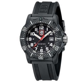 【LUMINOX 雷明時】Black Ops 8880黑夜行動系列腕錶(黑x白時標/45mm)