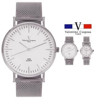【Valentino Coupeau】范倫鐵諾 古柏 米蘭網狀不鏽鋼帶錶-銀色