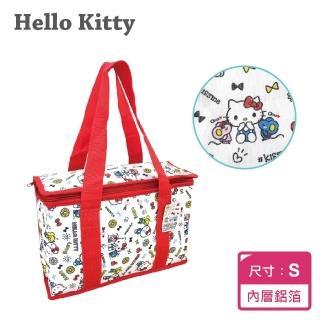 【SANRIO 三麗鷗】Hello Kitty 野餐保溫保冷袋S(約9.7L大容量!!手提方便使用!隨拿隨走-)