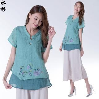 【水衫】秀麗皺感紗質上衣三件組(LG03-01)