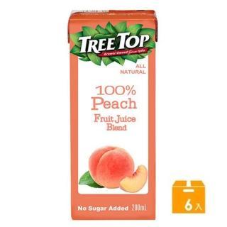 【Tree Top 樹頂】100%水蜜桃綜合果汁200ml*6入