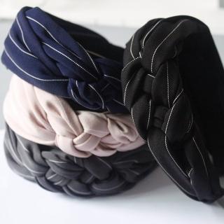 【梨花HaNA】韓國氣質麻花辮浪漫線條髮箍
