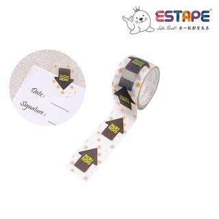 【ESTAPE】Sign here Memo貼紙|黑箭頭(註記/手帳/裝飾/便利貼/易撕貼/可書寫/重複黏貼)