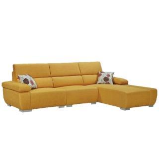 【AS】希歐多爾黃布獨立筒全拆式沙發-285x182x90cm
