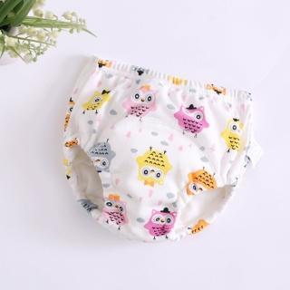 【JoyNa】學習褲 5層紗嬰兒純棉尿布褲6件入(90碼.100碼.110碼)