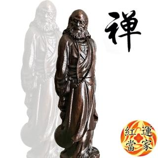 【紅運當家】越南沉香木雕佛像 達摩祖師(高29公分)
