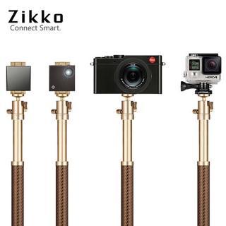 【ZIKKO】360度鋁合金自拍棒角架-120CM-金(自拍棒/三腳架)