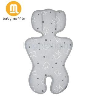 【baby muffin】推車汽座兩用3D透氣墊(皇家銀冠)