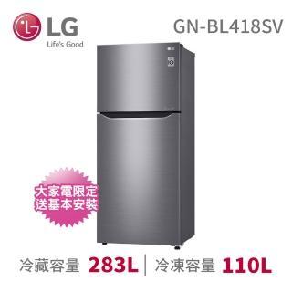 【LG 樂金】393公升◆二級能效直驅變頻上下門冰箱(GN-BL418SV)