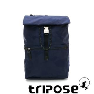 【tripose】迷彩系列輕量休閒高機能束口單扣後背包(深藍)