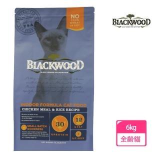 【BLACKWOOD 柏萊富】室內貓全齡優活配方-13.23磅(雞肉+糙米)